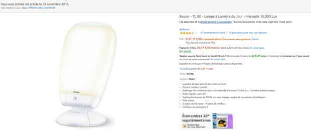 Lampe Beurer TL80