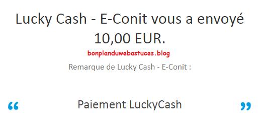 paiement luckycash
